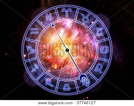 Horoskop-Zifferblatt