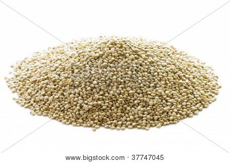 Quinoa Grains Heap Isolated