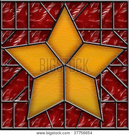 Christmas Star Stained Glass Ornament