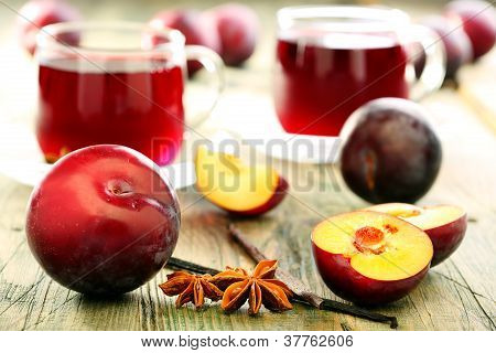 Compote Of Plums And Spices.