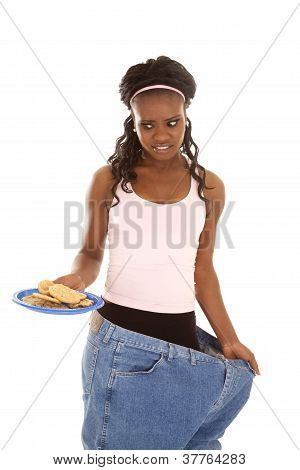 Woman Lost Weight Cookies Big Pants