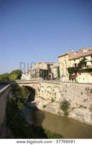 Roman Levee Wall And Medieval City