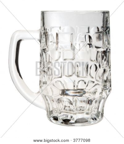 Empty Beer Mug Isolated