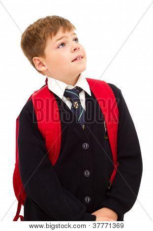 School boy in school uniform.