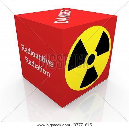 3D Radiation Symbol