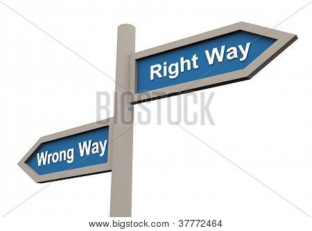 Wrong And Right Way