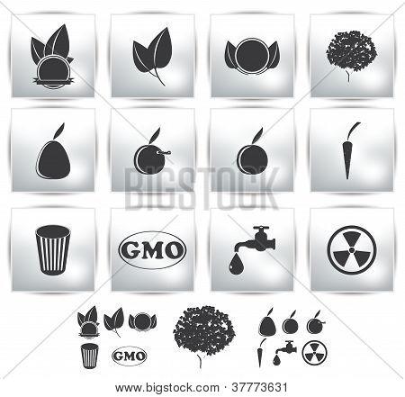 Vector icons set . Nature. environment
