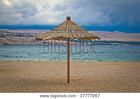 Famous Zrce Beach Umbrella Out Of Season