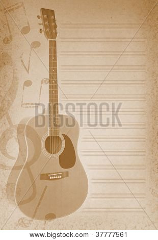Musical Background With Guitar