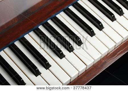 Old Piano Keys Background