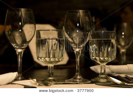 Restaurant Table Settings Glassware