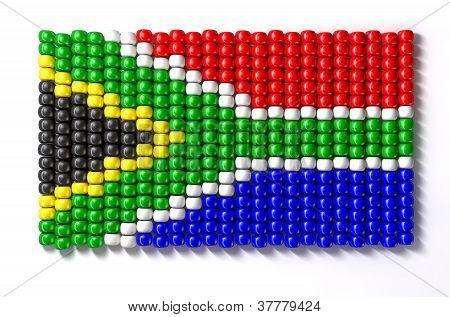 South African Zulu Bead Flag