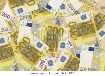 200 Euro Notes Texture