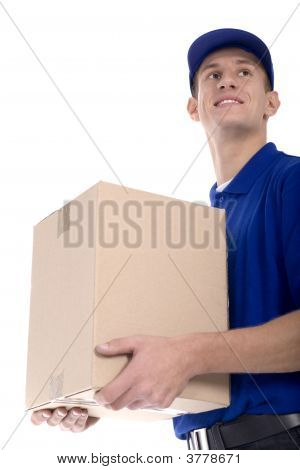 Courier Holding A Parcel