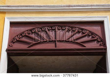 Decorative Wooden Arched Door