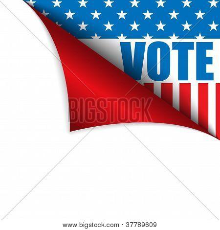 Abstimmung Vereinigte Staaten Seite Ecke