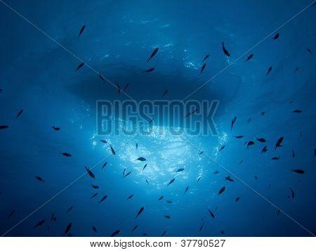 Boat by undersea