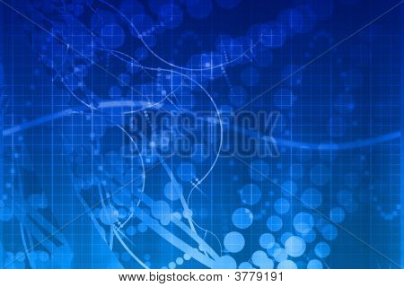 Blue Medical Science Futuristic Technology Abstract