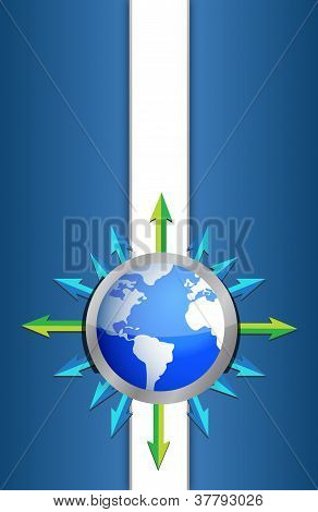 Globe Background Design