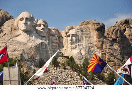 The Presidents seen from the Viewing Deck, Mt Rushmore