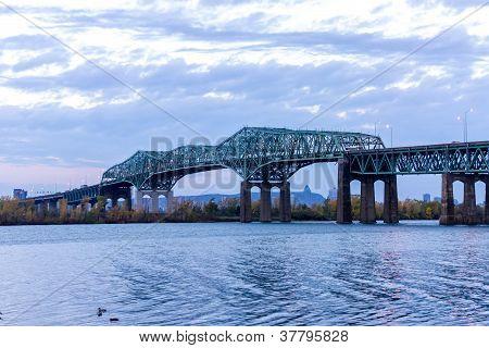 Champlain Bridge Of Montreal