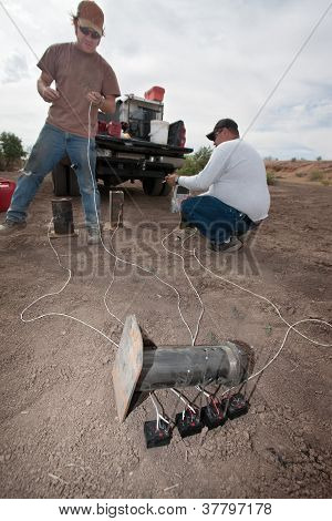 Two Movie Effects Men Working