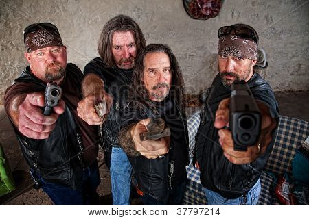 Biker Gang With Weapons