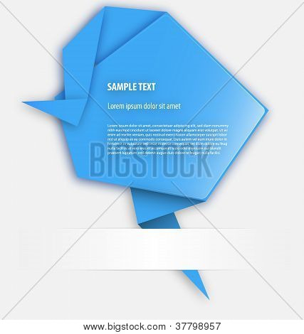 Origami presentation template