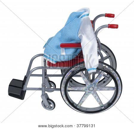 Letterman Jacket In Wheelchair