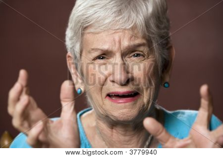 Upset Senior Woman