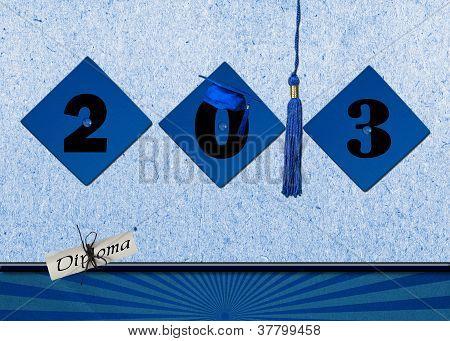 Blue Grad Caps for 2013.