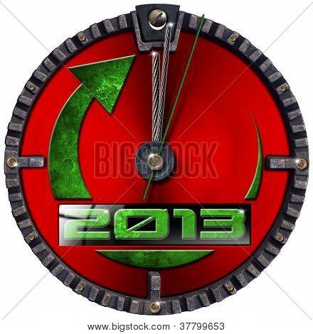 2013 New Year Grunge Clock