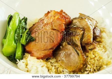 Roast Pork And Goose Rice