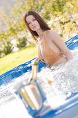 Sensual Girl In Jacuzzi poster