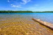 foto of legion  - Beautiful swimming beach of Buffalo Lake in the Northern Highland American Legion State Forest of Wisconsin - JPG