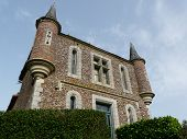 foto of poitiers  - One of the gatehouses at the Chateau la Raudiere near Poitiers in France - JPG