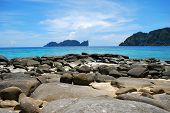 beautiful pp island krabi with rock beach coast