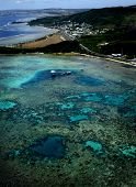 aerial view of Guam\'s reef