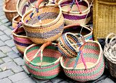 artisanal baskets sold on street markets