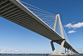picture of south-western  - Arthur Ravenel Bridge also know as the Cooper River Bridge spans 1 - JPG