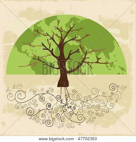 Baum-Welt-Konzept