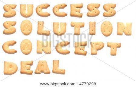 As palavras: Sucesso solução conceito negócio de Cookies