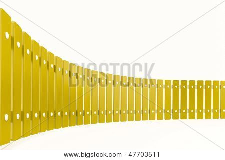 Curved Yellow Fence, Perspective View