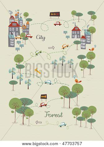 Ir a ciudad verde diseño