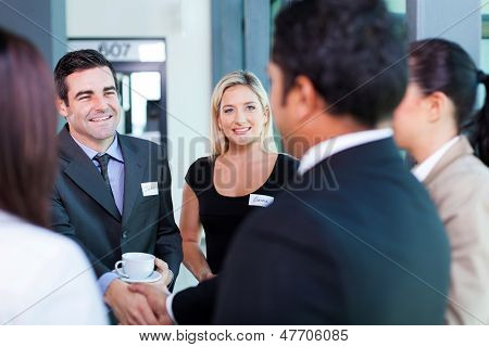 group of business people at business conference