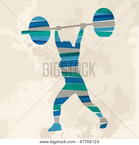 Vintage Multicolor Sport Woman