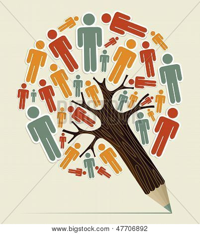 Man Sign Concept Pencil Tree