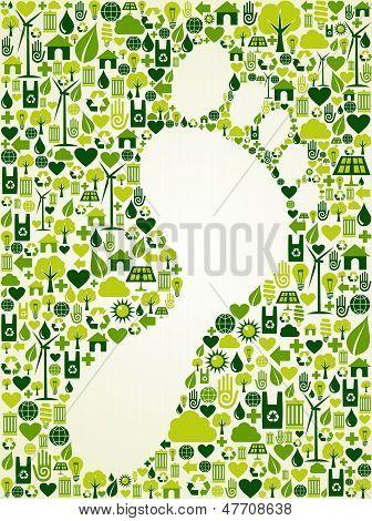 Diseño de la impresión de pie verde