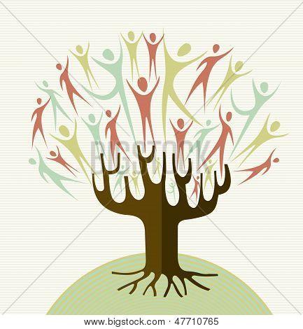 Abrazar la diversidad árbol Set