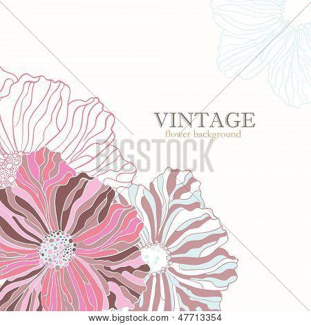 Pink vintage flower background